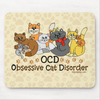 OCD Obsessive Cat Disorder Mouse Pad