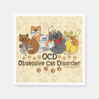 OCD Obsessive Cat Disorder Napkin