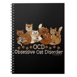 OCD Obsessive Cat Disorder Spiral Notebooks