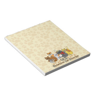 OCD Obsessive Cat Disorder Notepad