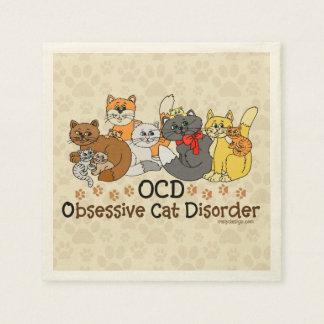 OCD Obsessive Cat Disorder Paper Napkin