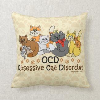 OCD Obsessive Cat Disorder Pillow