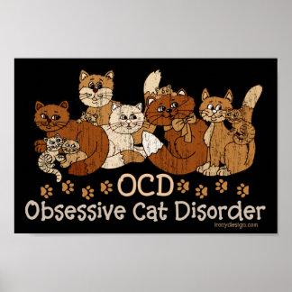 OCD Obsessive Cat Disorder Poster