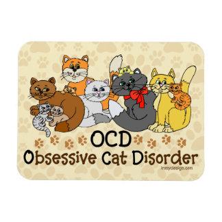 OCD Obsessive Cat Disorder Rectangular Photo Magnet