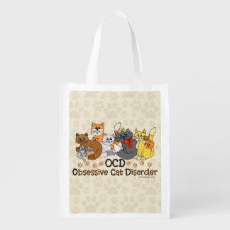 OCD Obsessive Cat Disorder Reusable Grocery Bag