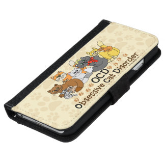 OCD Obsessive Cat Disorder Wallet Phone Case For iPhone 6/6s