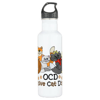OCD Obsessive Cat Disorder Water Bottle