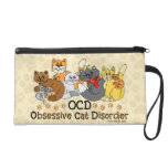 OCD Obsessive Cat Disorder Wristlet Purse