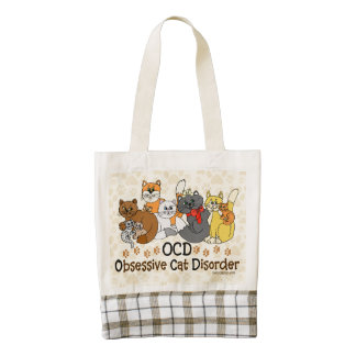 OCD Obsessive Cat Disorder Zazzle HEART Tote Bag