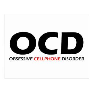 OCD - Obsessive  Cellphone Disorder Postcard