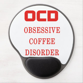 OCD Obsessive Coffee Disorder Red Funny Gel Mouse Pad