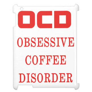 OCD Obsessive Coffee Disorder Red Funny iPad Case