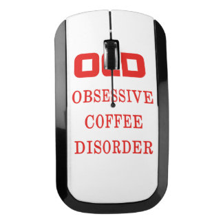 OCD Obsessive Coffee Disorder Red Funny Wireless Mouse