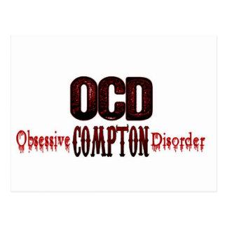 OCD- Obsessive Compton Disorder Postcard