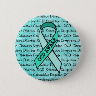 Ocd Obsessive Compulsive Disorder Awareness Ribbon Pinback On