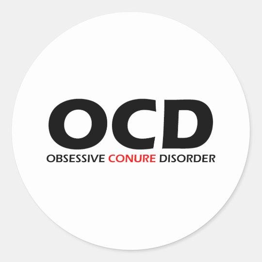 OCD - Obsessive Conure Disorder Classic Round Sticker