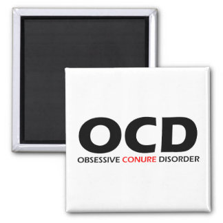 OCD - Obsessive Conure Disorder 2 Inch Square Magnet