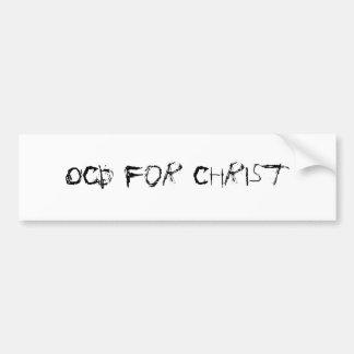 OCD para Cristo Pegatina Para Auto