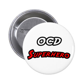 OCD Superhero Pinback Button