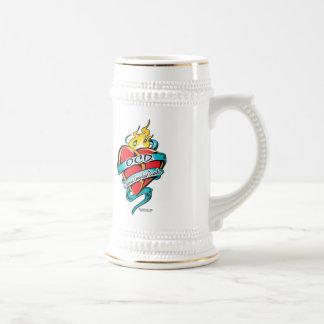 OCD Tattoo Heart Beer Stein