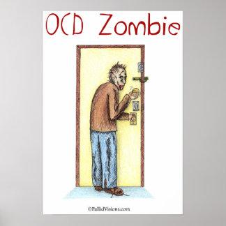 OCD Zombie Checking Locks Poster