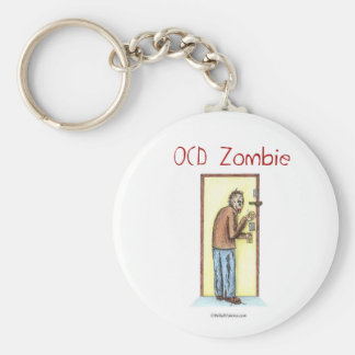 OCD Zombie Basic Round Button Keychain