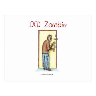 OCD Zombie Postcard