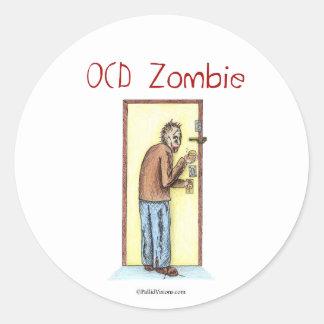 OCD Zombie Classic Round Sticker