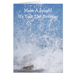 Ocean 21st Birthday Card
