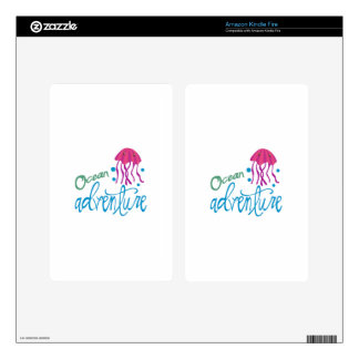 Ocean Adventure Decals For Kindle Fire