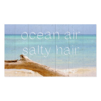 Ocean Air Salty Hair Business Card Templates