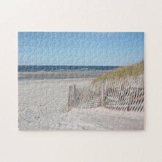 Ocean and beach fence jigsaw puzzle