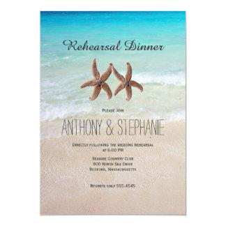 Ocean and Beach Rehearsal Dinner Card