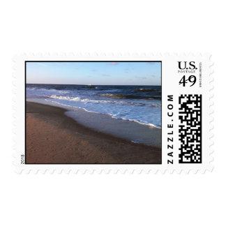 Ocean and Beach Theme Stamp