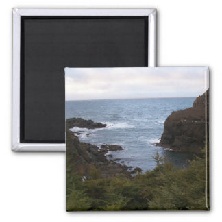 Ocean and Cliffs in Newfoundland, Canada Magnet