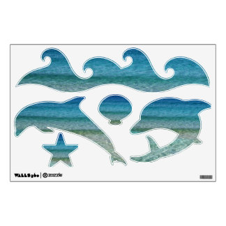Ocean and Dophins Wall Decals