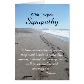 Ocean and Footprints Sympathy Card