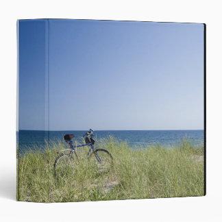 Ocean and horizon with clear blue sky vinyl binder