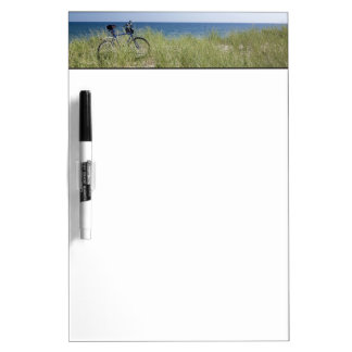 Ocean and horizon with clear blue sky dry erase board