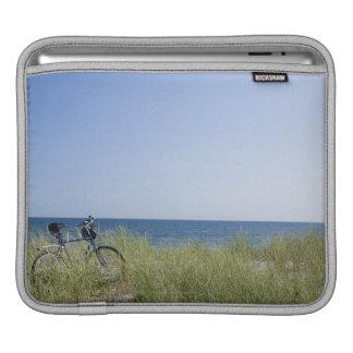 Ocean and horizon with clear blue sky iPad sleeve