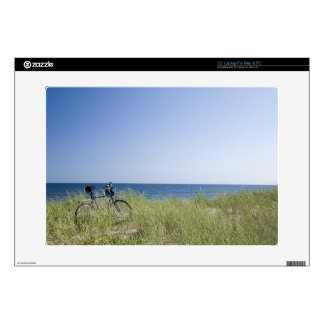 Ocean and horizon with clear blue sky laptop skin