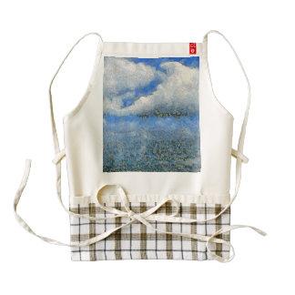 Ocean and mountain zazzle HEART apron