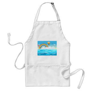 Ocean and rainbow adult apron