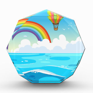 Ocean and rainbow award