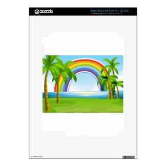 Ocean and rainbow iPad 3 skins