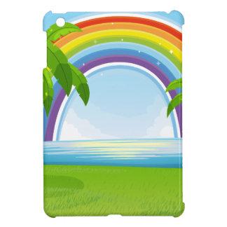 Ocean and rainbow iPad mini cover