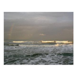 Ocean and Rainbow Photography Postcard