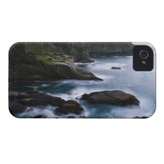 Ocean and rocky shore of remote area 2 iPhone 4 cover