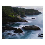 Ocean and rocky shore of remote area 2 poster