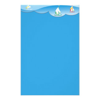 Ocean and Sailboats  Scrapbook Stationery